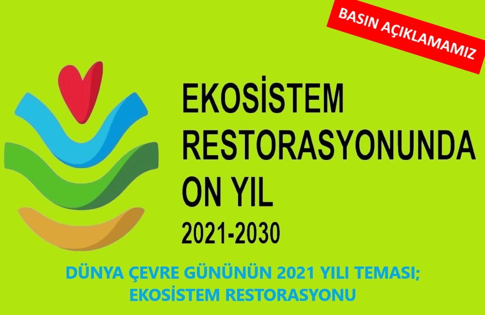 DÜNYA ÇEVRE GÜNÜNÜN 2021 YILI TEMASI; EKOSİSTEM RESTORASYONU